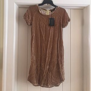 NWT Zara velvet dress