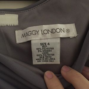 Maggy London Dresses - Gray One Shoulder Cocktail Dress | Maggy London