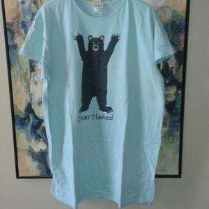 "Hatley Other - EUC ""I sleep BEAR naked"" sleep tee"