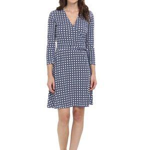 Leota Dresses & Skirts - Blue Basket Perfect Wrap Dress   Leota