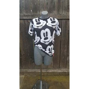 Neff Tops - Mickey Mouse Face Tee Shirt Black & White Size S