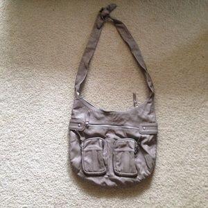 American Eagle crossbody bag/purse gray/green/tan