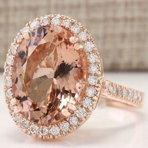 Jewelry - BACK IN STOCK! Morganite & rose gold ring ✨HP✨