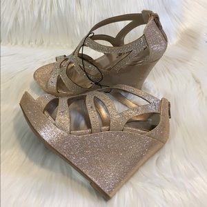 Dollhouse Shoes - Dollhouse Rose Gold Wedges