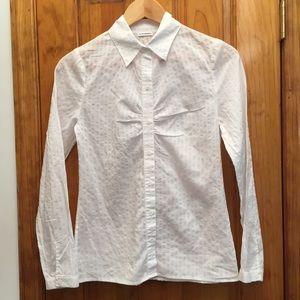 Club Monaco Tops - Club Monaco Semi Sheer White Button Down Shirt