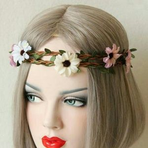 Boho Gypsy Sisters Accessories - *NEW LISTING* Multi Colored Flower Headdress