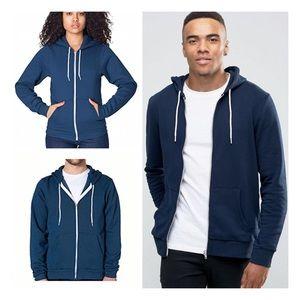  sea blue zip jacket