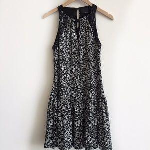 Greylin Dresses & Skirts - greylin • lace print silk drop waist dress • s
