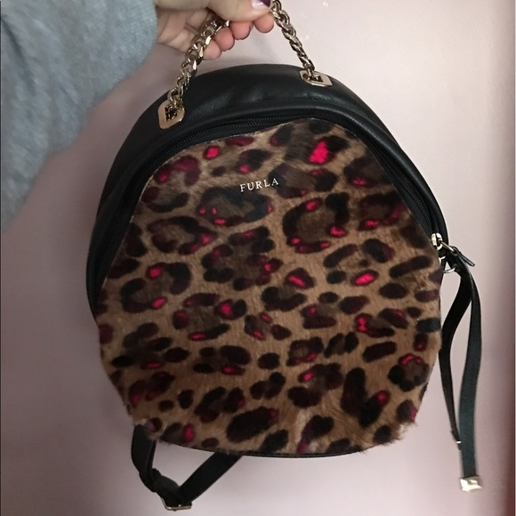 Furla Handbags - FURLA Leopard backpack mini 9faacfb3dba35
