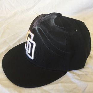 7a2a1236b91 Accessories - Airbrushed San Diego Padres SnapBack Hat