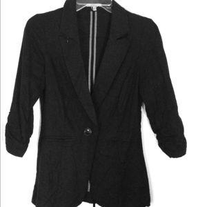 Charlotte Russe Jackets & Blazers - Black Linen Blazer