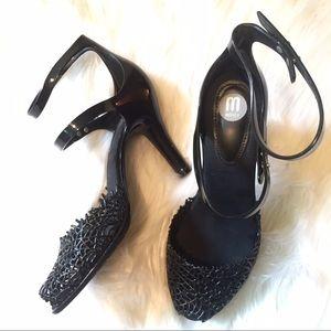 Melissa Shoes - Melissa Jelly Laser Cut Dbl Strap 2 piece heels 8