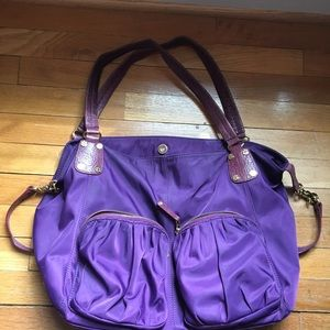 MZ Wallace Handbags - MZ Wallace purple tote (mulberry color)
