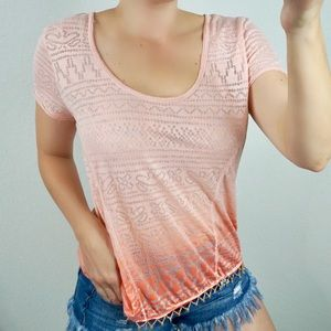 Free People Tops - Free People Ombré Beaded Shirt