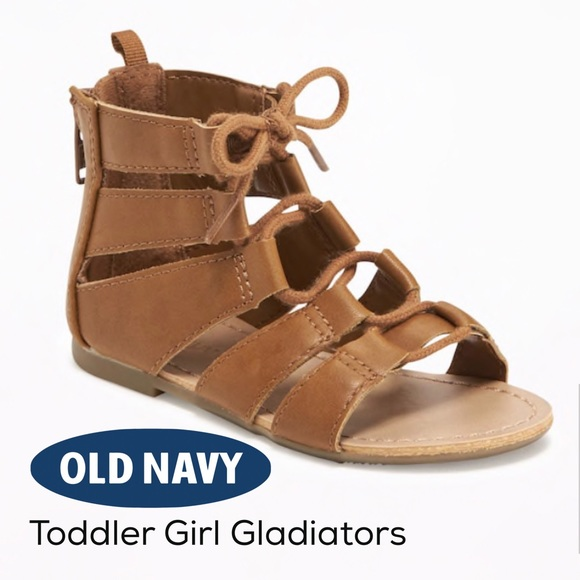 ef77bbf3495 Old Navy Toddler Girls Cognac Gladiator Sandals
