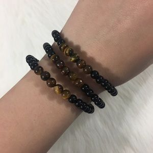Jewelry - Handmade 3pc tiger eye bracelets