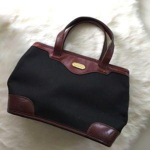 Brahmin Handbags - Brahmin Canvas and Leather Tiny Handbag