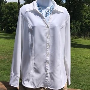Ladies button front shirt