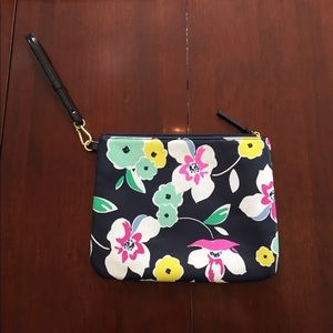 Floral oversized clutch/iPad bag