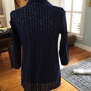 Sweaters - JUST REDUCED ❗️Navy Open Weave Cardigan 3/4 Sleeve