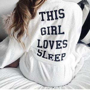 NWT ⭐️ This Girl Loves Sleep White Robe
