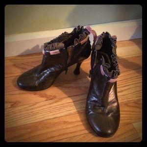 kenzie Shoes - Brown Bootie Heels by Kenzie