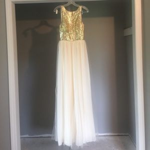 Cream and gold dress