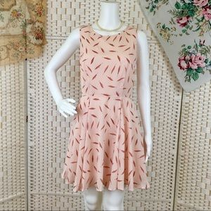 1d8303f2efde0 Maison Jules Dresses - Maison Jules Summer Pale Pink Feather Print Dress