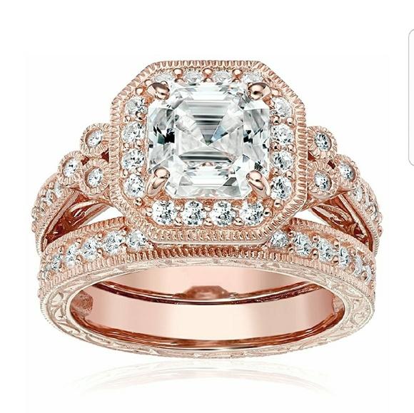 45 Carat Rose Gold Engagement Wedding