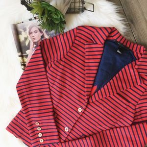 Marc by Marc Jacobs Jackets & Blazers - MARC BY MARC JACOBS • Navy & Red Knit Blazer