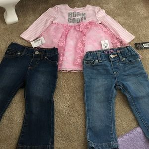 Children's Place Other - Girls jeans and shirt set/bundle