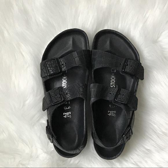 bad63555adb Birkenstock Shoes - NewBirkenstock Milano Exquisite Croc Stamped Sz 11