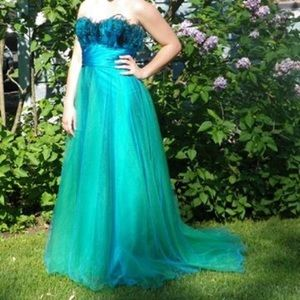 Alexia Designs Dresses & Skirts - Blue and Green Prom Dress