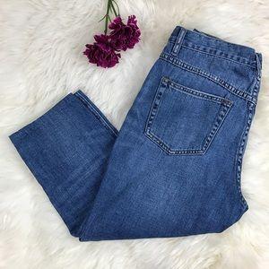 Free People Denim - Free People Mid Rise Skinny Capri Cropped Jeans