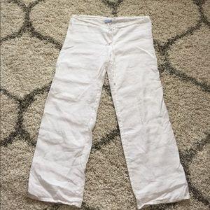 Acrobat Pants - White Linen pants!