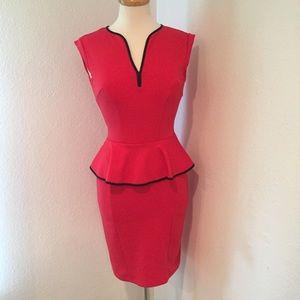 Allen B. By Allen Schwartz Dresses & Skirts - Allen B Red Peplum Dress