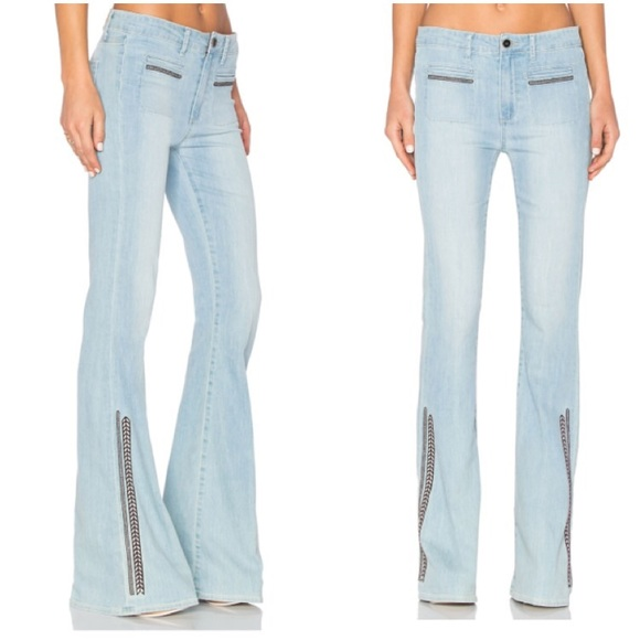 Off paige jeans denim hp high rise embroidered