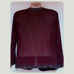 Aspeed Jackets & Coats - Woman's Aspeed Beaded Evening Jacket Size Large