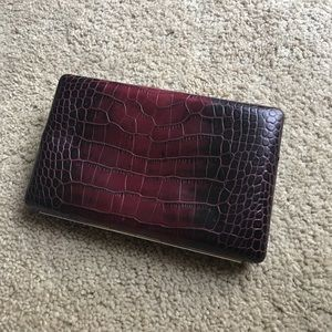 Abas Handbags - Purple snake skin wallet