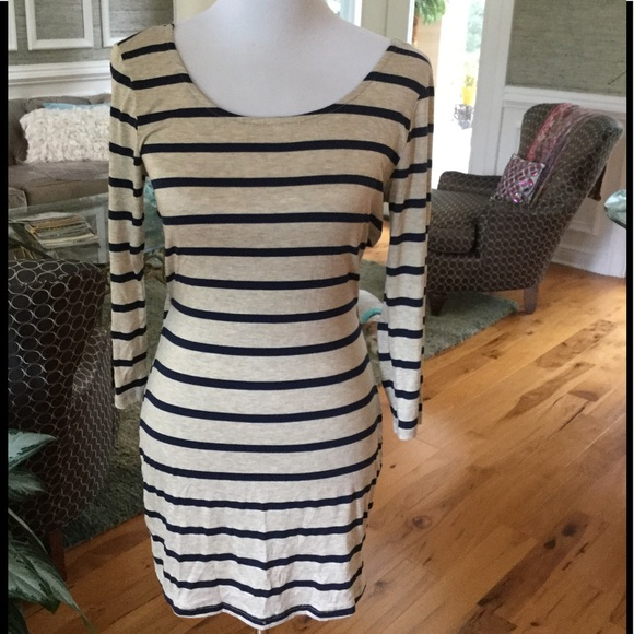 Body Central Dresses & Skirts - ‼️NWT Navy Striped Mini Dress
