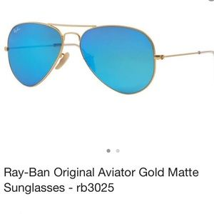 Ray ban blue mirror aviator sunglasses