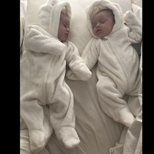 First Impressions Other - Furry White Snowsuit Pram