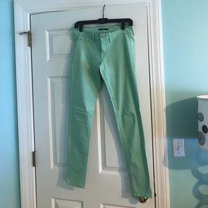 Flying Monkey seafoam skinny jeans