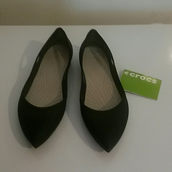 Nwt Womens Size W Crocs Pointed Toe