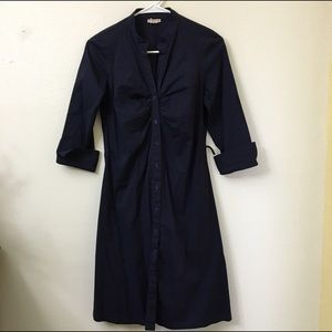 a'gaci Dresses & Skirts - Agaci button down dress navy blue