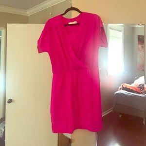Amanda Uprichard Dresses & Skirts - Hot pink vneck dress