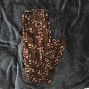 LuLaRoe Pants - LULAROE Tall & Curvy Brown Gray Green Leggings