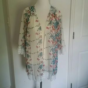 Other - Floral kimono cover up fits XL - 3x