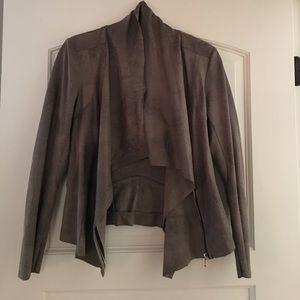 Zara suede zip up jacket