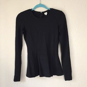 Wilfred Tops - {Wilfred} Long Sleeve Fitted Peplum Blouse